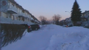 With no sidewalks plowed children are forced to walk in the street as well
