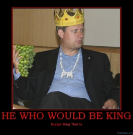 Prime minister Steven Harper. The man who would be king.