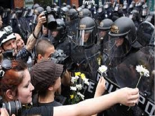 This is not the Ukraine. This is Toronto, Canada during the G-8 protest.