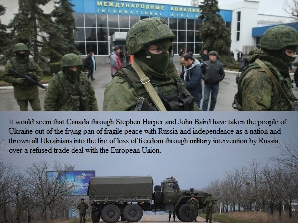 I fear the Ukraine and its people will need more that just cheap talk, sabre-rattling to get Russia to pull out of their country!